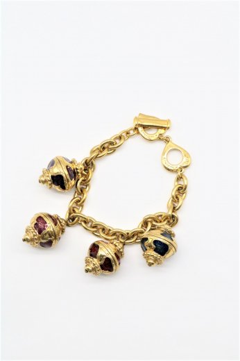 【vintage】Yves Saint Laurent / antique orb motif gold bracelet
