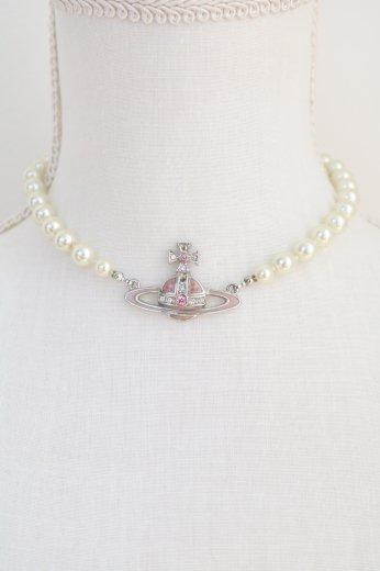 【vintage】Vivienne Westwood / earth globe motif pearl choker