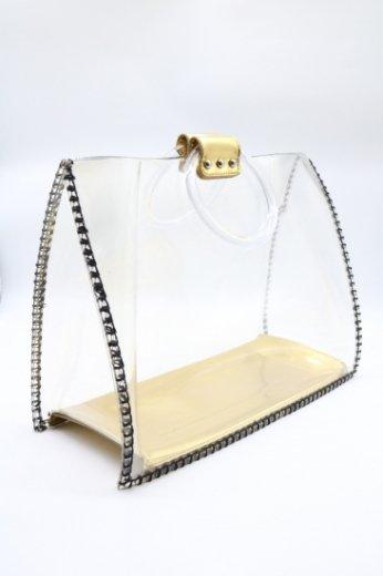 round handles clear handbag