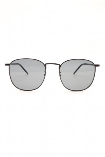 thin temple sunglasses / black