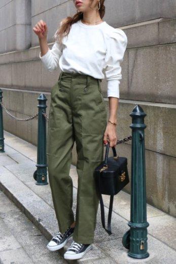 【vintage】high waist military pants / olive