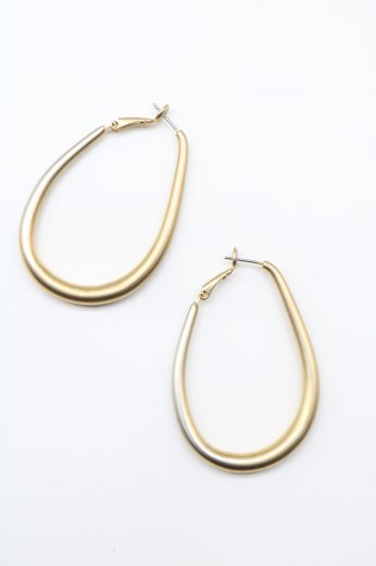 gold drop pierced earrings