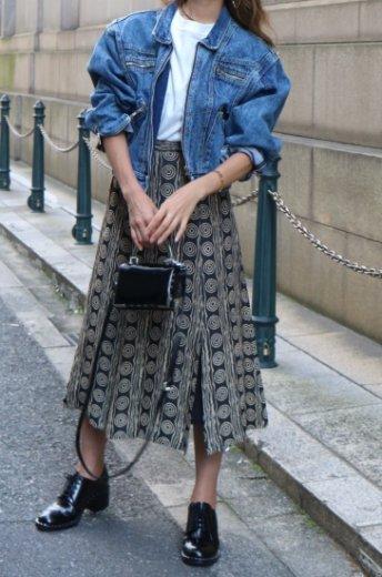 【vintage】edge design flare skirt