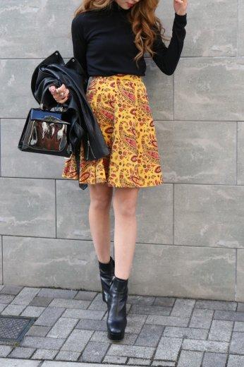 【vintage】KENZO / paisley pattern flare mini skirt