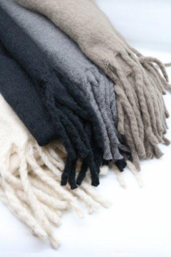 acrylic long muffler / ivory・black・gray・brown