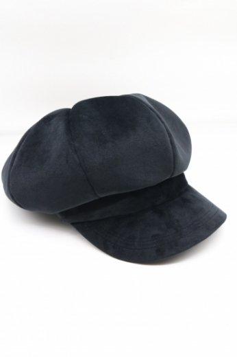 velours casquette / black