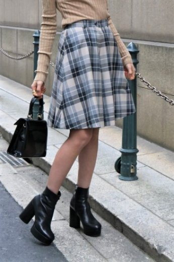 【vintage】Christian Dior / check pattern culottes skirt