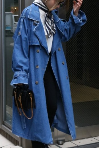 <img class='new_mark_img1' src='//img.shop-pro.jp/img/new/icons14.gif' style='border:none;display:inline;margin:0px;padding:0px;width:auto;' />long denim trench coat (belt set)