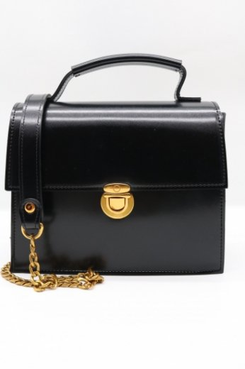2way gold chain bag / black