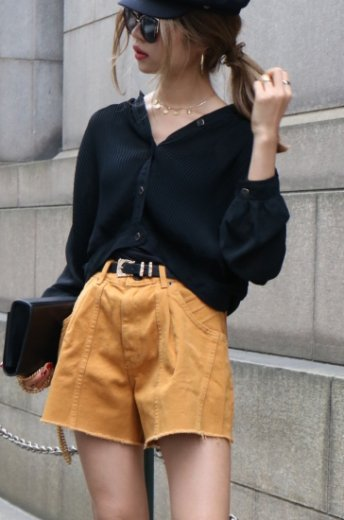 【vintage】 front button see-through pleats shirt tops