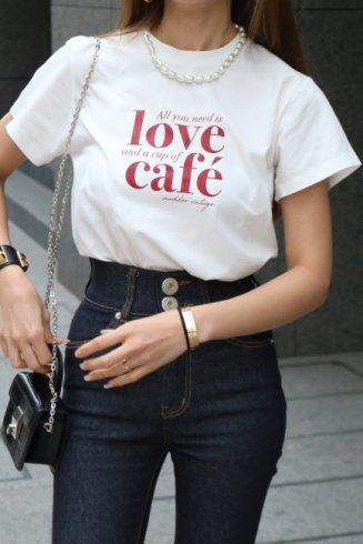 message logo T-shirt / white