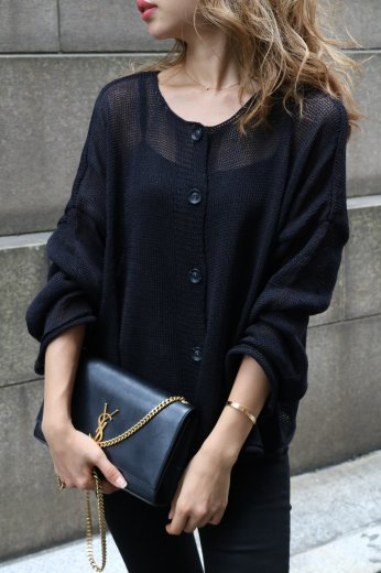 3way summer knit tops / black