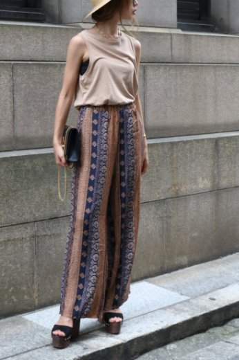 ethnic pattern wide pants