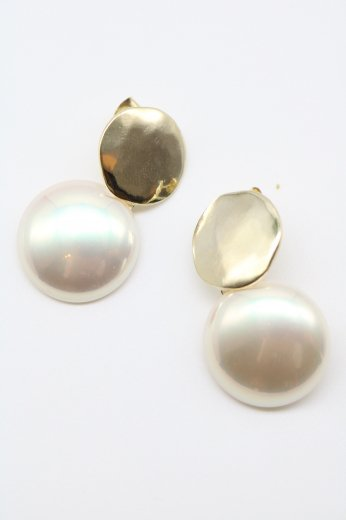 swing pearl pierced earrings
