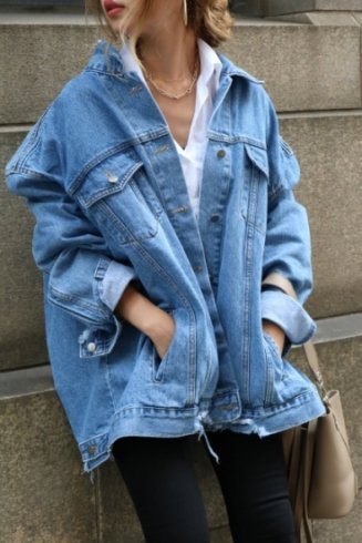 【PRE ORDER〜9/9(月)23:59まで】big silhouette crash denim jacket