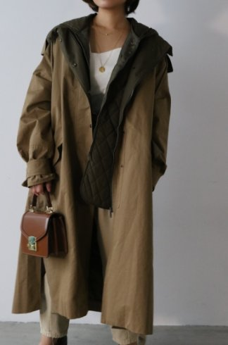 3way mods coat (liner down vest set) / khaki beige