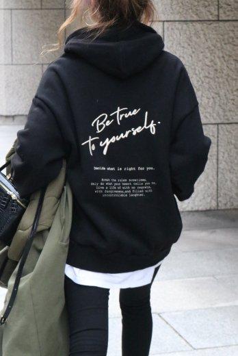 original embroidery hoodie / black