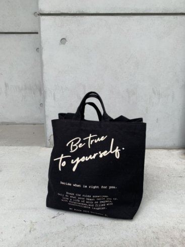 original - logo message 2way tote bag / black