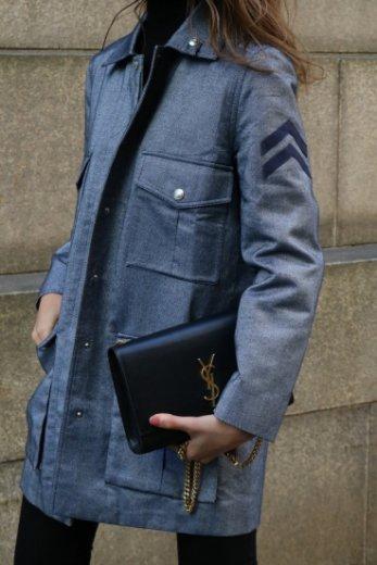 【vintage】Christian Dior / silver logo fly front button denim jacket