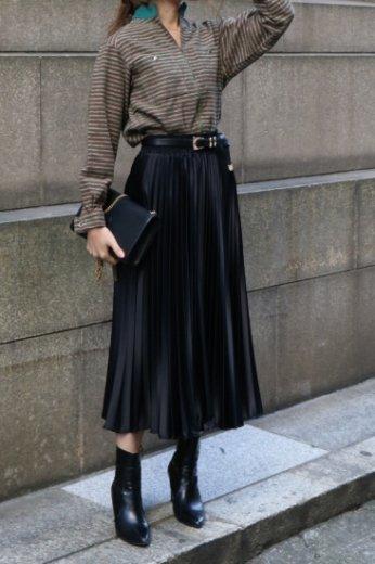 【vintage】Christian Dior / high neck zip up knit tops
