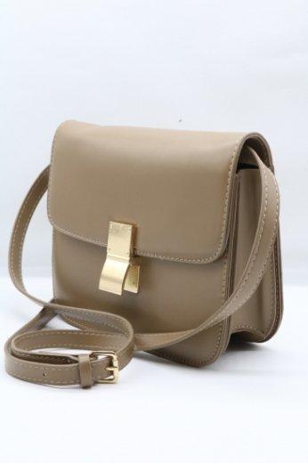 gold clip pochette bag / mocha
