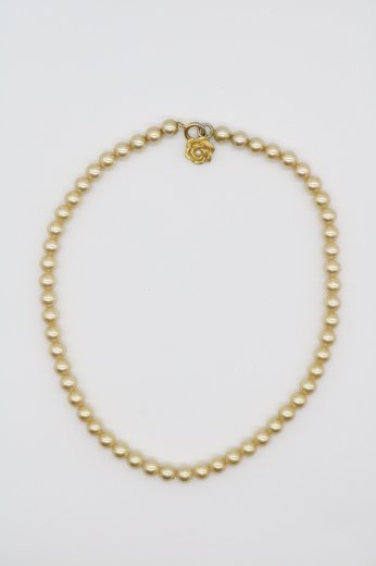 【vintage】KENZO / rose charm yellow pearlnecklace