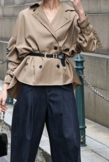 2way trench blouse / beige