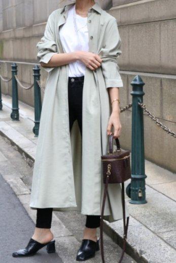 2way back pleats design flare rayon dress (belt ribbon set) / mint