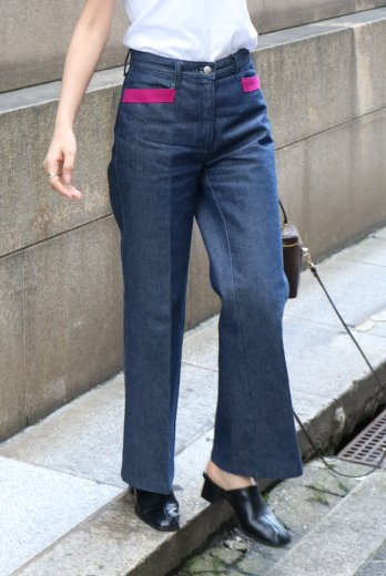 <img class='new_mark_img1' src='https://img.shop-pro.jp/img/new/icons14.gif' style='border:none;display:inline;margin:0px;padding:0px;width:auto;' />【vintage】FENDI / side line wide denim pants / 26inch