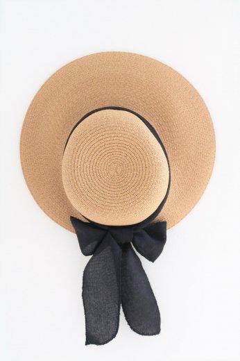 ribbon paper hat / beige