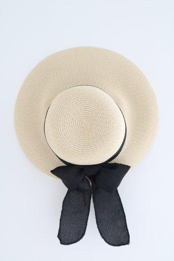 ribbon paper hat / natural
