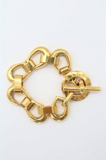 <img class='new_mark_img1' src='https://img.shop-pro.jp/img/new/icons14.gif' style='border:none;display:inline;margin:0px;padding:0px;width:auto;' />【vintage】CELINE / horseshoe chain bracelet