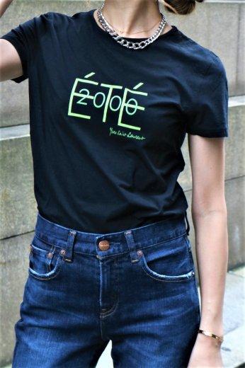 【vintage】Yves Saint Laurent / front logo ĒTĒ 2020 round neck print tee