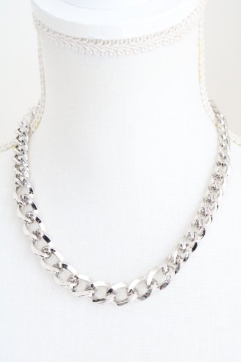 flat link chain necklace / silver