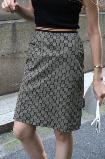 【vintage】FENDI / FF zucchino straight skirt