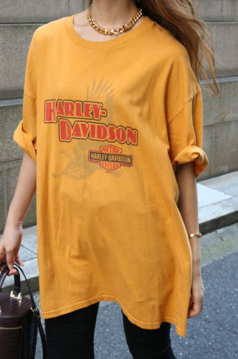 【vintage】HARLEY-DAVIDSON / YoungstownーOhio HD limited big silhouette tee
