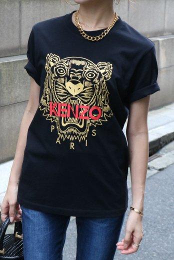【vintage】KENZO / round neck tiger print tee