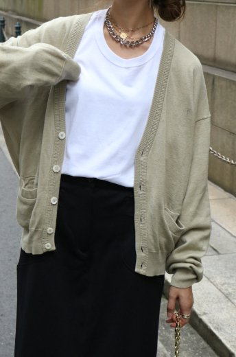 【vintage】Yves Saint Laurent / YSL logo embroidery V neck cardigan