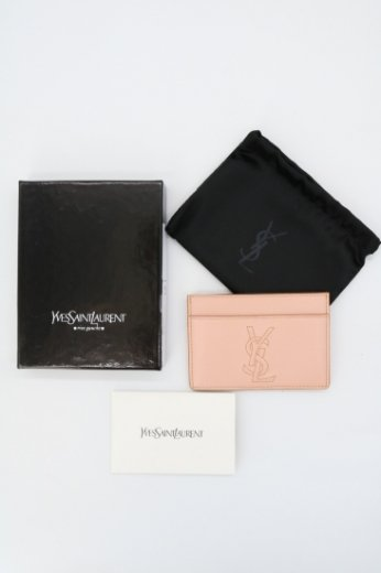 <img class='new_mark_img1' src='https://img.shop-pro.jp/img/new/icons14.gif' style='border:none;display:inline;margin:0px;padding:0px;width:auto;' />【vintage】Yves Saint Laurent / logo embroidery card case