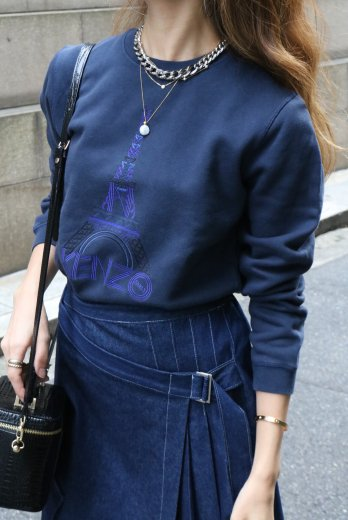 <img class='new_mark_img1' src='https://img.shop-pro.jp/img/new/icons14.gif' style='border:none;display:inline;margin:0px;padding:0px;width:auto;' />【vintage】KENZO / logo tower embroidery sweat shirt