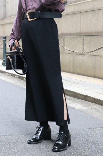 <img class='new_mark_img1' src='https://img.shop-pro.jp/img/new/icons14.gif' style='border:none;display:inline;margin:0px;padding:0px;width:auto;' />【vintage】Yves Saint Laurent / side slit tucking long skirt