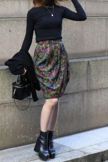 【vintage】Yves Saint Laurent / paisley wool wrap skirt