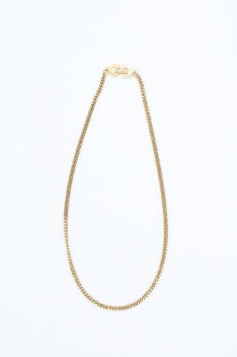 【vintage】Christian Dior / CD logo flat link chain necklace