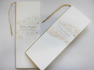 結婚披露宴 席次表 手作り用紙キット フィオラ(ホワイト・ピンク)
