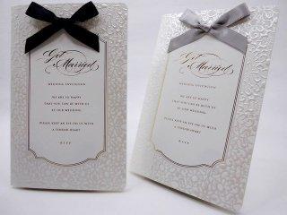 結婚式 招待状 手作り用紙キット べリンダ(ネイビー・グレー)