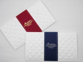 結婚式 招待状 手作り用紙キット レディアン(ブルー・レッド)