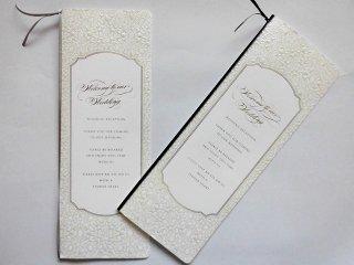 結婚披露宴 席次表 手作り用紙キット べリンダ(ネイビー・グレー)