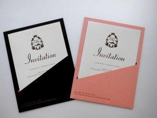 結婚式 招待状 手作り用紙キット ポケット(ブラウン・ピンク)