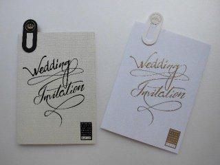 結婚式 招待状 手作り用紙キット アルジェンテ(ホワイト・ブラック)