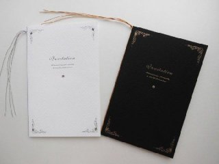 結婚式 招待状 手作り用紙キット エンドレス(ホワイト・ブラック)